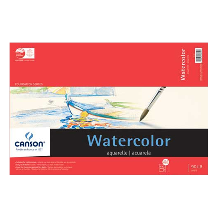 Canson Watercolor Pads, Blocks, Sketch Books and Sheets