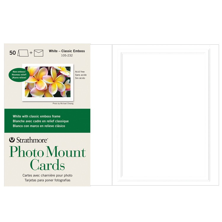 Strathmore Creative Blank Greeting Cards Photo Mount & Frame