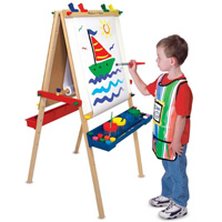 Melissa & Doug  Deluxe Standing 2-Sided Child's Easel