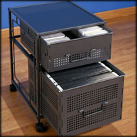 Studio RTA Executive Mesh 2 Drawer File Cabinet