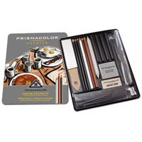 Prismacolor Premier Charcoal Sketch Tin Box Set