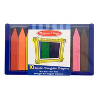 Melissa & Doug Jumbo Triangular Crayons 10 Piece Set