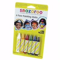 Snazaroo 6-Color Face Painting Sticks Set