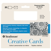 Strathmore Blank Greeting Cards & Envelopes Bulk - 100 Pack