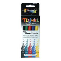 Jacquard Tee Juice Fabric Markers –  5-Color Sets