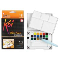 Koi Watercolor Large Pocket Size Field Sketch Box Sets