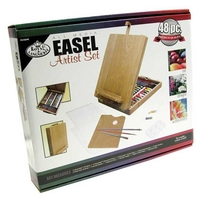 Royal All Media Artist 48 Piece Painting Wood Easel Box Set