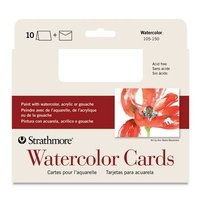 Strathmore Blank Watercolor Greeting Cards Bulk - 50 Pack