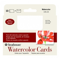 Strathmore Blank Watercolor Greeting Cards Bulk - 100 Pack