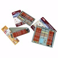 Derwent Drawing Collection Pencil Tin Set - Mixed Materials