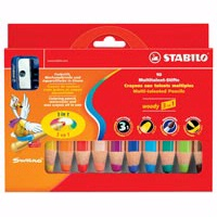 Stabilo Woody 3 in 1 Chunky Pencil Sets