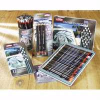 Derwent Tinted Charcoal Pencil - Tin Sets