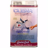 Castin craft clear polyester casting resin with catalyst for Castin craft clear resin