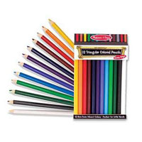 Melissa & Doug Jumbo Triangular Colored Pencils 12ct