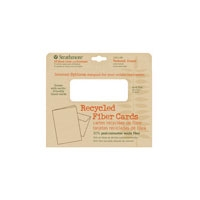 Strathmore Greener Option Blank Greeting Cards - Recycled Fiber, Textured Cream