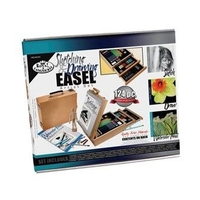 Royal Sketching & Drawing 124 Piece Wood Box Easel Artist Set