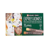 Cray-Pas Expressionist Oil Pastel 12-Color Multicultural Set