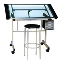 Studio Designs Vision Craft Center Drawing Table W/Stool