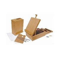 Royal All Media 104 Piece Wood Box Easel Set