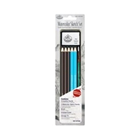Royal Mini Tin Art Set - Watercolor Sketch Pencils & Brush Set