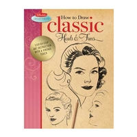 Walter Foster Vintage Collection Series How to Books - Classic Heads & Faces & Pin-Ups & Glamour Girls