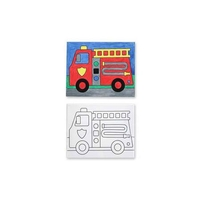 Melissa Amp Doug Canvas Creations Fire Truck