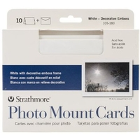 Strathmore Photo Mount Card White Classic Embossed 100pk