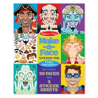 Melissa & Doug Make a Face Crazy Characters Sticker Pad