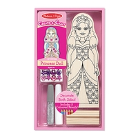 Melissa & Doug Decorate Your Own Princess Doll