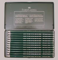 Faber Castell 9000 Drawing Pencils Design Set Tin of 12