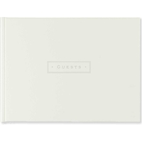 Ivory Leather Guest Book
