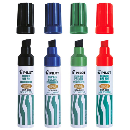 Pilot Super Color Jumbo Permanant Markers (SC-6601) (New Version - Xylene Free)