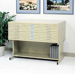 Safco Steel Flat files, Bases, & Accessories