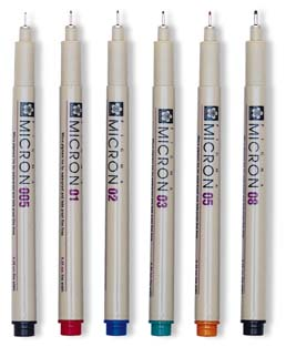 Sakura Pigma Micron Sets of 6 - Assorted Colors