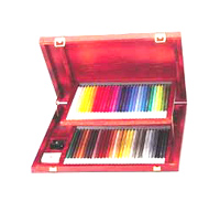 CarbOthello Wooden Box 60 Set Pastel Pencils