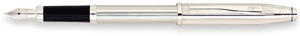 Cross Century II Fountain Pen with Rhodium Plated-Fine Nib Sterling Silver
