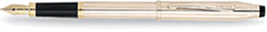 Cross Century II Fountain Pen with 18 Karat Gold Plated-Extra Fine Nib 14 Karat Gold Filled/Rolled Gold (cap and barrel)