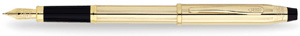 Cross Century II 10 Karat Gold Filled/Rolled Gold Fountain Pen With 23K Gold Plated appointments -Extra Fine Nib