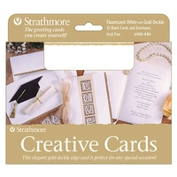 Strathmore Creative Greeting Cards w/Gold Deckle 10 Pack