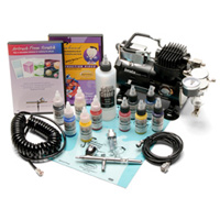 Iwata Eclipse Deluxe CS Complete Airbrush Set With Compressor