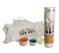 Art Alternatives Junior Brush & Smock Set