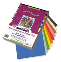 Pacon Construction Paper Super Value Pad 200-Assorted Sheets