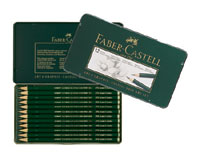 Faber Castell 9000 Drawing Pencils Art Set Tin of 12